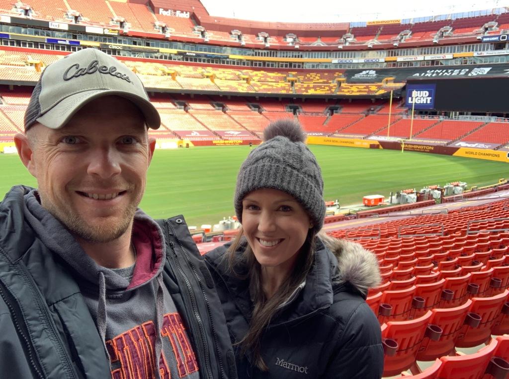 My wife ashley 2020 Wft Harvest Feast Monty Football Llc